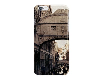 Merchant of Venice - Bridge of Sighs (Italy travel photo iPhone case skin Samsung Galaxy case skin, romantic gondola eerie beige brown)