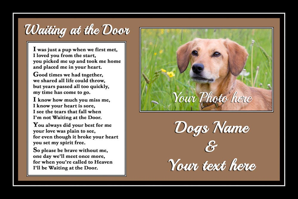 Personalised Pet Dog Photo Memorial Plaque Sympathy Gift