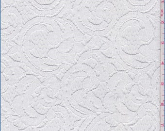 White Scroll Lace, Fabric By The Yard