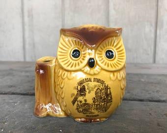 Vintage Universal Studios California Owl Bank