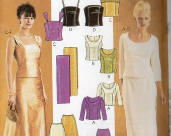 Mother of the Bride McCall's Evening Elegance Pattern  3436 TOPS SKIRTS STOLE Misses Sizes 6 8 10