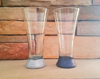 Bride & Groom Pilsner Beer Glass, Beer Glass, Wedding Gift, Personalized Glass, Spirit Holder, Beer Gifts, Beer Lover, Heirloom, Mothers Day