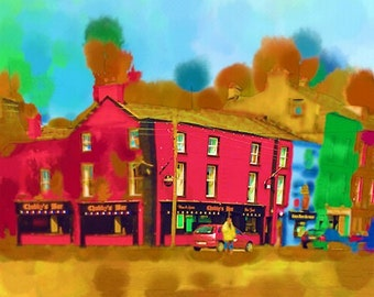 Chubby's Bar Wexford Ireland limited edition digital print edition of 50