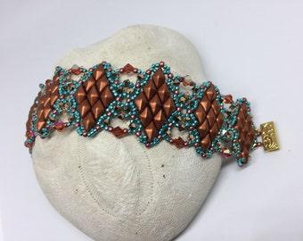 PATTERN Diamond Game bracelet Tutorial Diamond Duo