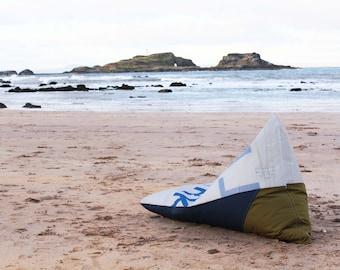 BeanSailing - Sail Bean Bag - Sailcloth Nautical Beanbag