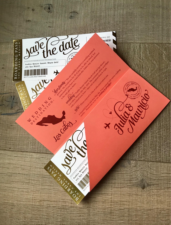 Custom for Julie Shimmer Save the Dates Wedding Invitation