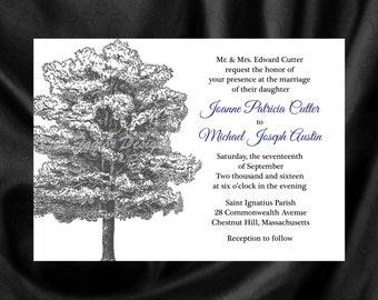 Oak Tree Invitation & RSVP  Tree Wedding Invitation Oak Tree Wedding Invitation Oak Tree Invitation - Tree Design 30
