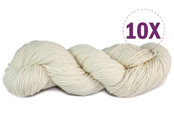 10X - Bare Yarn DK / 100% Merino superwash  | 110g - 286yds (261m) | Perfect for shawl and Cardigan [ALT]