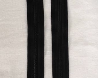 Zipper zip black non detachable 15 cm 3 coins sewing notions