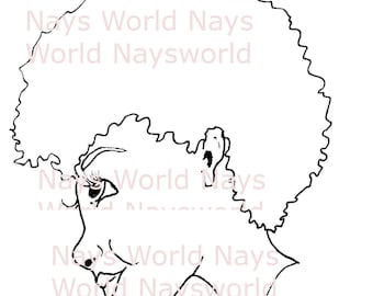 Digital Stamp, Shy, Female Digi Stamp,Stamps, Female digital stamp