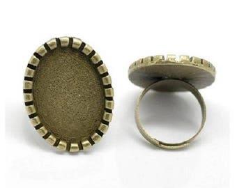 4 ring bronze cabochon 18 x 25 mm