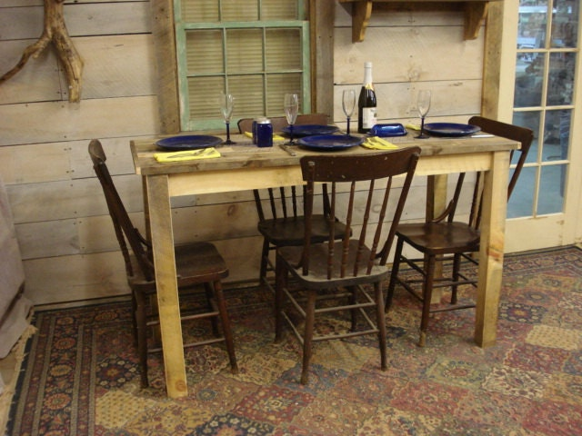Counter Height Dining room Table Farmhouse 60 x