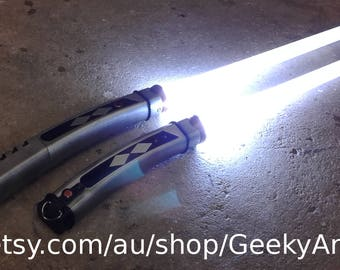 Ahsoka Tano Dual Lightsabers - High Detail - Custom - Stunt Dueling Light Saber