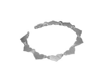 Heart to Heart Silver bracelet