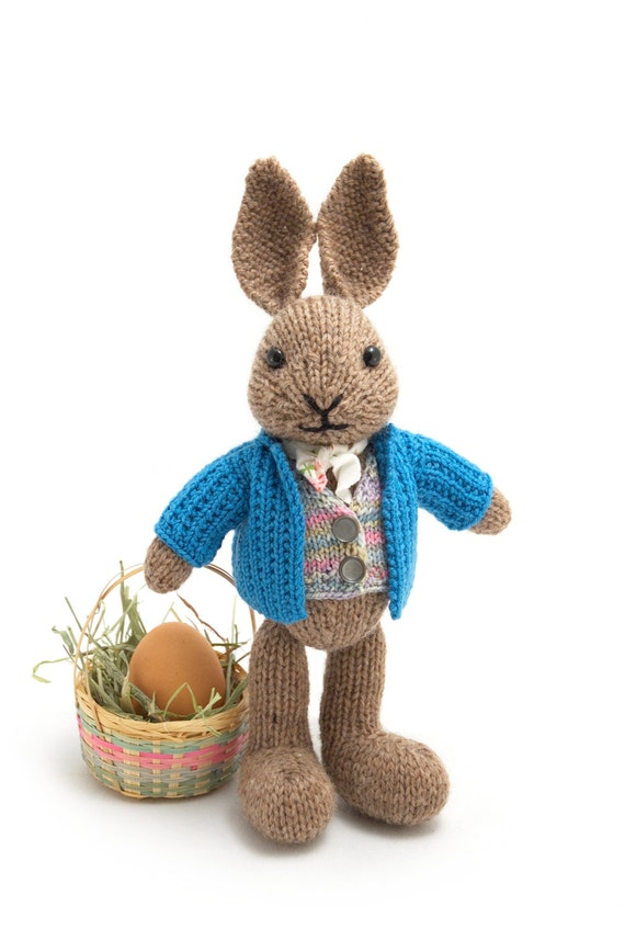 Peter Rabbit Knitting Pattern Download : Well dressed bunny knitting pattern