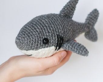 PATTERN: Shawn the shark - Crochet shark pattern - amigurumi shark pattern - crocheted shark pattern - PDF crochet pattern