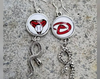 Diamondbacks image earrings