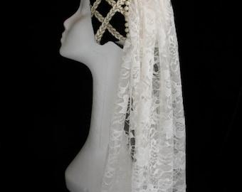 New black velvet Renaissance Medieval Tudor women's hat cap costume