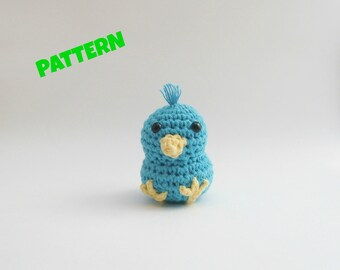 Amigurumi Blue Bird Pattern, Amigurumi Bird Pattern, Crochet Bird Pattern, Crochet Pattern, Amigurumi Patterns, Crochet Amigurumi Paterns