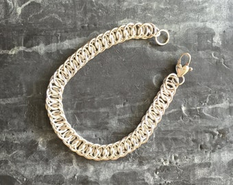 Classic sterling Chainmaille bracelet