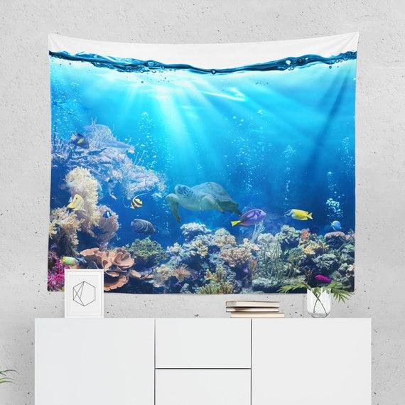 d coration murale sous marine tapisserie sous marin. Black Bedroom Furniture Sets. Home Design Ideas