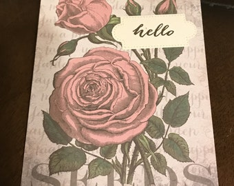 Handmade Set of 2 Greeting Cards with Envelopes Blank Inside