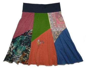 Cute Summer Skirt for Women Small Medium Dog Lover's Skirt Size 4 6 8 upcycled recycled repurposed one of a kind Twinkle Skirts Twinklewear