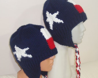Knit Texas Flag Hats for Men and Women Hats Texas Gifts for Her and for Him Birthday Gift for Couple Hats