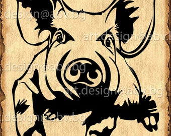 Vector PIG, AI, PNG, eps, pdf, svg, dxf, jpg Download, Digital image, graphical, animal, swine, discount coupons