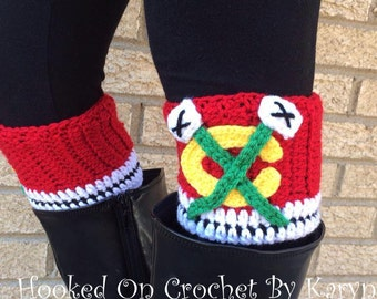 Chicago Blackhawks Crochet Boot Cuffs