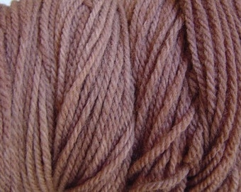 Root Brown Worsted Weight Hand Dyed Merino Wool Yarn
