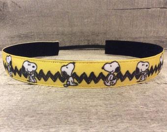 Snoopy Nonslip Headband, Noslip Headband, Workout Headband, Sports Headband, Running Headband, Athletic Headband