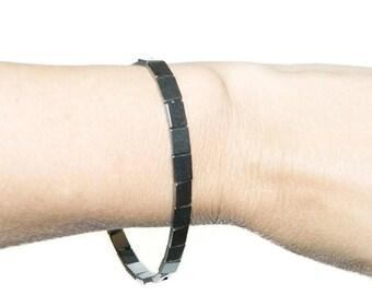 Hematite Bracelet, Mens Beaded Bracelet, Stretch Bracelet For Man
