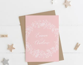Blush Wedding Save the Date | Rustic Wreath Collection | SAMPLE
