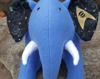 "STAR TREK- Blue Plush Elephant - ""Sciences"""