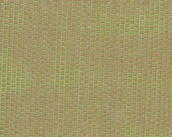CLEARANCE SALE Neon Green Grid Extra Wide Shiny Iridescent Punchinella Sequin Waste Trim for Mixed Media Artists Punchinello Art Stencil