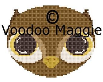 Woodland Owl Cross stitch pattern