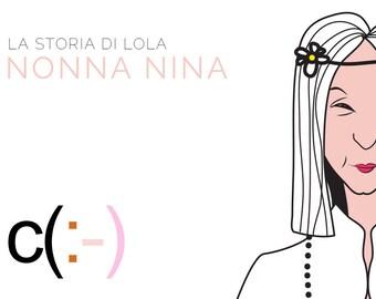 Grandma Nina, Lola's maternal grandmother, Lola paper doll,  stories and friends, instant download