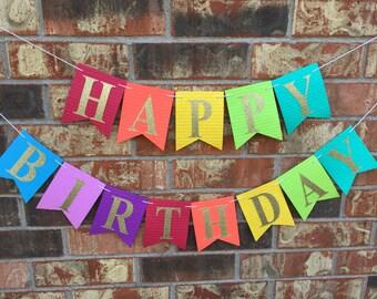 happy birthday custom banner birthday party decoration add a