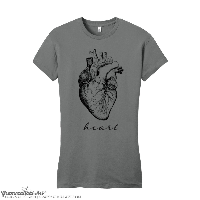Womens Heart Shirt Vintage Anatomy T Shirt Anatomy Shirt