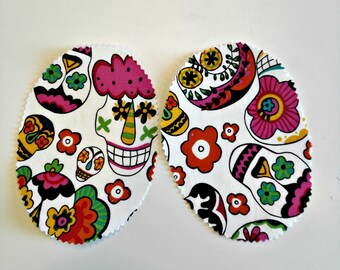 Party skulls elbow patch