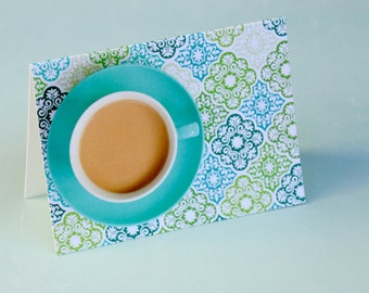 Wallpaper Coffee Cup Notecard