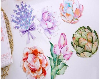 NEW! 5 stunning cards postcards floral theme, mix patterns 14 * 9cm approx