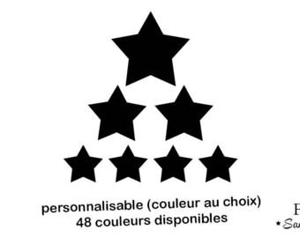 7 star iron-on applique flex