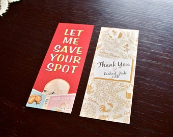 Little Golden Book Bookmark Baby Shower Thank You