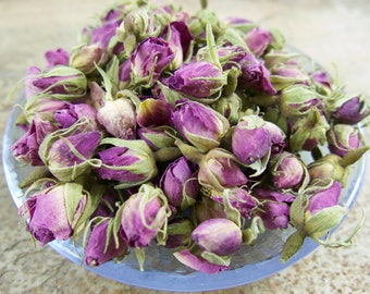 ROSE | Rosa damascena | GORGEOUS Pink Dried Whole Buds | Top Quality | Culinary Tea Craft