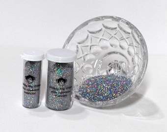 Silver Celebration Holographic Glitter-Extra Fine 0.008-Many Other Color Options-2 Sizes-Visit Our Store! B-82