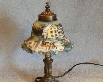 Boudoir Lamp - Country Scene - Accent Lamp