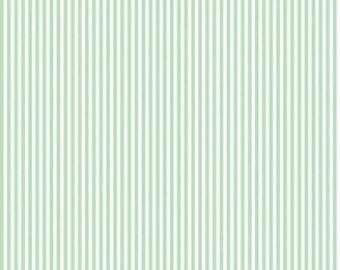 "Sweetmint 1/8"" stripes on white basics by Riley Blake -C495-sweetmint blender"