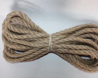 12 mm Jute Cord Natural=22 Yards= 20.12 Meters Jute Rope Jute Cord Natural Fiber Rope Burlap String Cording Natural Jute Rope Wilde Treasure